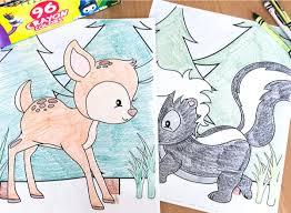 We draw animals for colouring almost daily. Free Printable Woodland Animal Coloring Pages For Kids