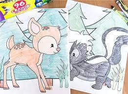 Fuzzy has hundreds of printable animal coloring pages! Free Printable Woodland Animal Coloring Pages For Kids