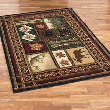 rustic lodge area rugs touch of class buffalo trail rug clipgoo