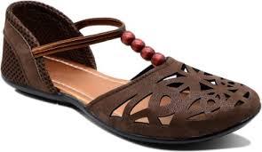 Myra Women Rich Brown Flats - Infinitydeals
