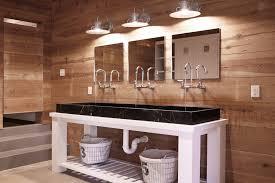 rustic modern bathroom vanities. Bathroom Trough Sink Contemporary With Wood Panel Wall White Vanity Rustic Modern Vanities G