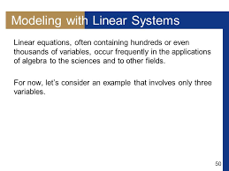 modeling with linear systems copyright cene learning all rights reserved ppt