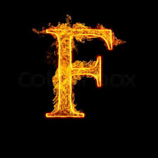 Fire Alphabet Letter F Isolated On Stock Photo Colourbox