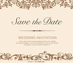 save the date template free download save the date flourish victorian card vector free download