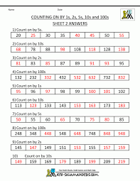 Excel : Grade Math Practice Counting And Back Worksheet Sheet ...