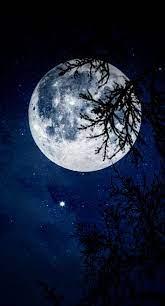 Dark moon, blue, HD mobile wallpaper ...