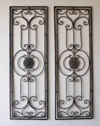 >tuscan large scrolling wrought iron wall grille set tuscan  tuscan large scrolling wrought iron wall grille set