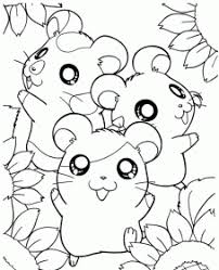 Hamster coloring pages are a fun way for kids of all ages to develop creativity, focus, motor skills and color recognition. Cute Hamster Coloring Pages Printable Novocom Top