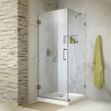 This review is from:Unidoor Lux 30 in. x 30 in. x 72 in. Frameless Hinged Corner  Shower Enclosure in Brushed Nickel