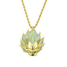 custom diamond iced out gold men hip hop jewelry vegeta pendant