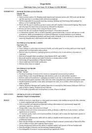 Materials Handler Resume Samples Velvet Jobs