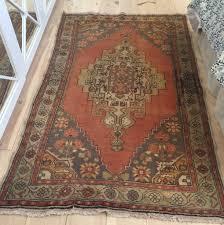 oushak rug 4 6 x 7 5 vintage a169