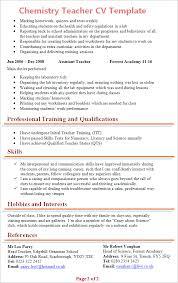 Resume Template For Teachers Fascinating Free Cv Templates For Teachers