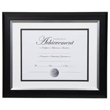 white certificate frame 2 tone 11 x 14 document frame by dax daxn16984st ontimesupplies com
