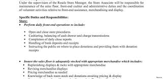Retail Sales Associate Job Description For Resume Collection Of solutions Store Manager Job Description Resume for 35