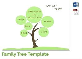 Build A Family Tree Template Simple Family Tree Form Template Vector