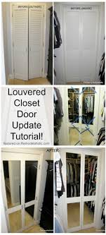 Image French Doors Remodelaholic Remodelaholic Diy Mirrored Closet Door Makeover