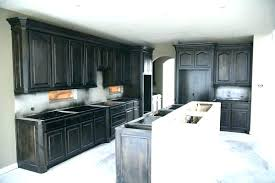 dark stained kitchen cabinets.  Dark How To Stain Kitchen Cabinets Dark Black Stained  Cabinet Pertaining Staining Darker Renovation On T