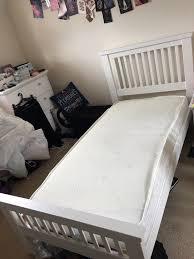 white aubrey argos single bed frame memory foam mattress
