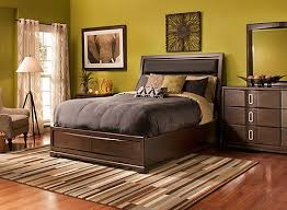 Denali 4 pc King Platform Bedroom Set w Storage Bed Coffee