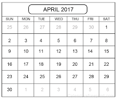 april calendar download 2017 april calendar template printable personalised