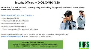 security officers oic sso jso lso jobs vacancies in sri best job site in sri lanka cv lk