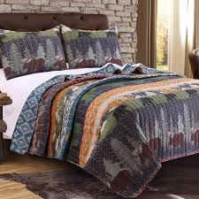 Greenland Home Fashions Black Bear Lodge Quilt Set - Free Shipping ... & Greenland Home Fashions Black Bear Lodge Quilt Set Adamdwight.com