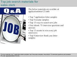 5 top job search materials for sales clerk sales clerk jobs