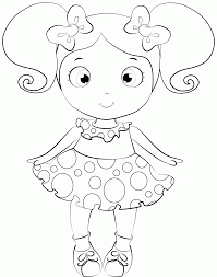 Small Picture Coloring Pages Baby Doll Draw And Coloring Baby Doll Drawing