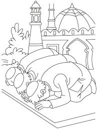 Islamic Coloring Pages Printable New Muslim Kids Eid Coloring Page