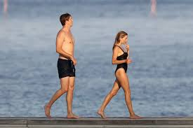 Despite reports to the contrary, the door is still open for a reconciliation. Sienna Miller Dons A Black Swimsuit As She Hits The Beach With Boyfriend Lucas Zwirner In Saint Tropez France 070819 8