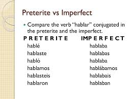 Preterite And Imperfect Chart Ppt Preterite Vs Imperfect Powerpoint Presentation Free