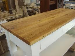 Reclaimed Heart Pine kitchen workbench top.