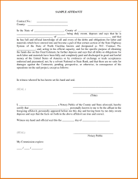 Affidavit Template Of An Affidavit Of Loss Template Letter Sample