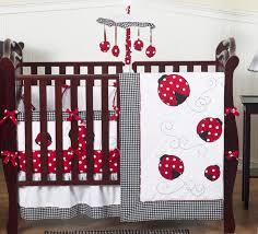 sweet jojo designs lady bug red polka dot baby girl crib bedding set collection