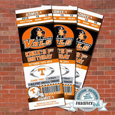 Tennessee Volunteers Football Seating Chart Tennessee Volunteers Vols Ticket Style Birthday Party By