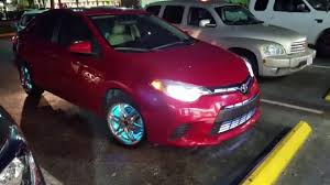 2016 Toyota Corolla with grill lights and flashing rim lights ...