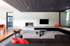 ultra modern living room. Ultra Modern Living Room Winsome Green Wallpaper Winter Snow View Black Stained Wall Forest Sqaure I