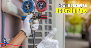 fixing your clogged ac drain pipe