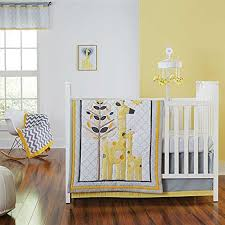 yellow giraffe crib bedding