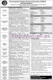 new careers excellent jobs government college women university new careers excellent jobs government college women university sialkot jobs for registrar treasurer professors lecturers