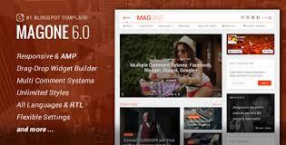 Website Template Newspaper Magone Responsive News Magazine Blogger Template Free