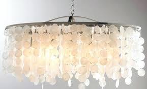 capiz rectangular chandelier modern shell linear large rectangle hanging gray