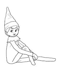Elf On The Shelf Coloring Page Christmas In 2019 Elf On The