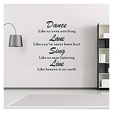 Amazon Wall Decals Quotes Dance Love Sing Live Vinyl Wall Mesmerizing Wall Decals Quotes