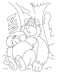 Small Picture Sleeping bear coloring pages Download Free Sleeping bear