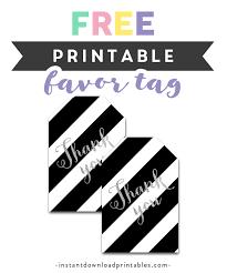 Thank You Black And White Printable Free Printable Thank You Tags Black White Silver Glitter