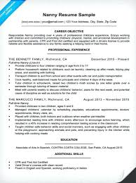 Professional Nanny Resume Sample Nanny Resume Charming Sample Of Nanny Resume About Housekeeper