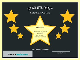 Star Of The Month Certificate Template Star Student Certificate Template Best Template Ideas