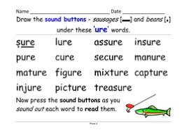 So far you can see we have a variety of sets of worksheets that deal with beginning sounds phonics is obviously an important early developmental skill for children to start learning and our worksheets can help kids learn phonics. Phase 3 Ure Grapheme As In Sure Treasure 4 Activities And Powerpoint Of Words Teaching Resources